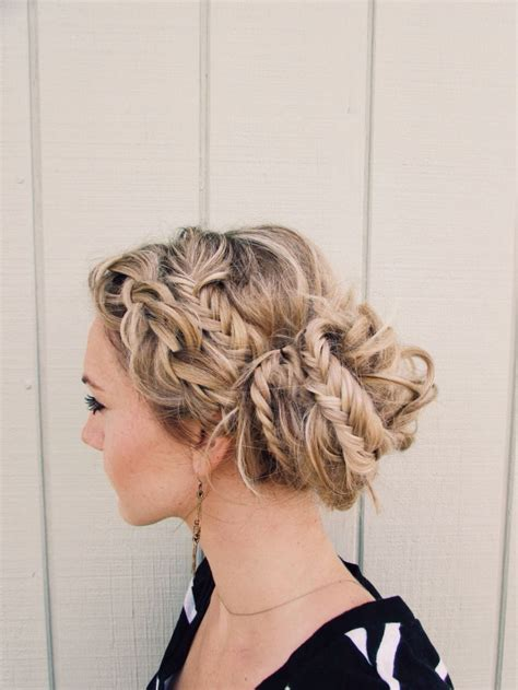how to make hair buns from braids how to have cool hairstyles with dutch braid and fishtail