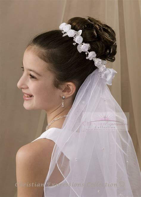 communion hairstyles with headband veil 56 best images about communion wreaths on pinterest
