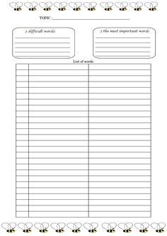 vocabulary journal template petitioners can use this printable petition form to gather