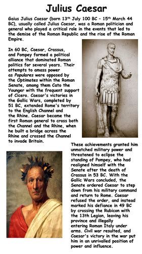 julius caesar biography for middle school julius caesar fact file by krisgreg30 teaching resources