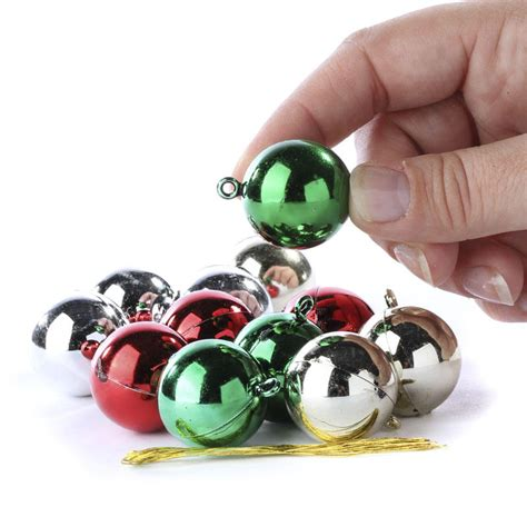 miniature shiny metallic christmas ball ornaments
