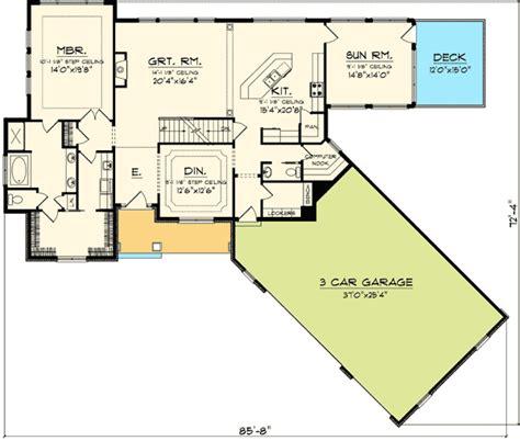 angled garage house plans plan 89830ah angled garage home plan bonus rooms
