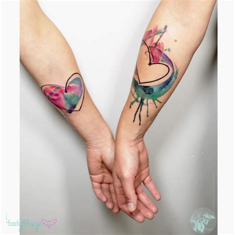 tattooed couples we heart it couple heart tattoos best tattoo ideas gallery