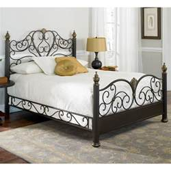 Ideas For Antique Iron Beds Design Elegance Iron Bed Ornate Design Glided Truffle Finish