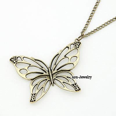 Kalung Korea Choker Decorated Hollow Out Design simple bronze hollow out butterfly asujewelry