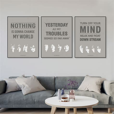 Poster Vintage Pop Quotes Wall Prints 20x30 13 beatles pictures free promotion shop for promotional beatles pictures free on aliexpress