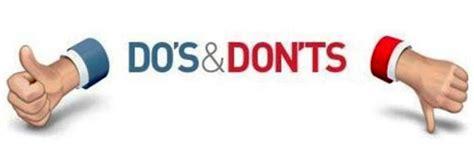 do s don ts for your