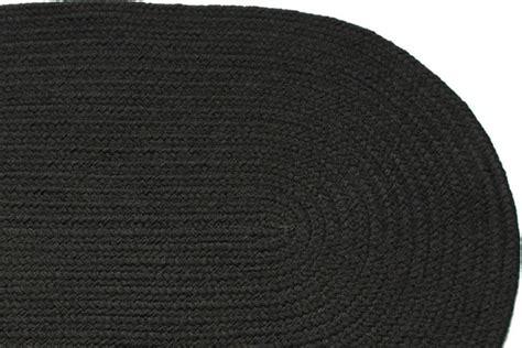 Black Braided Rugs by Solid Black Braided Rug