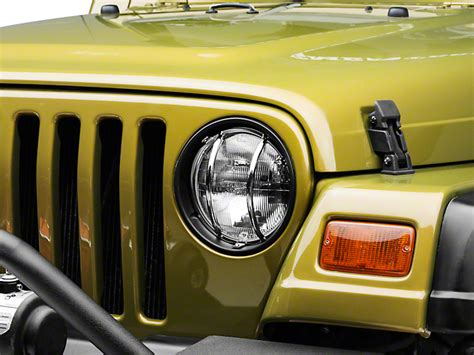 rugged ridge headlight guards rugged ridge wrangler headlight guard kit stainless steel 11142 01 97 06 wrangler tj