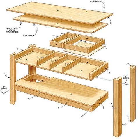 simple workbench plans garage simple workbench plans