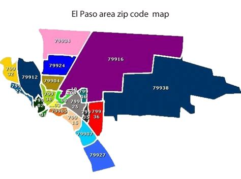 zip code map el paso tx services