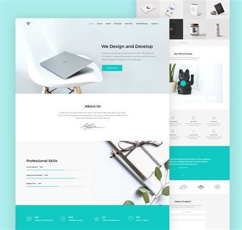 layout design psd modern portfolio website template psd download download psd
