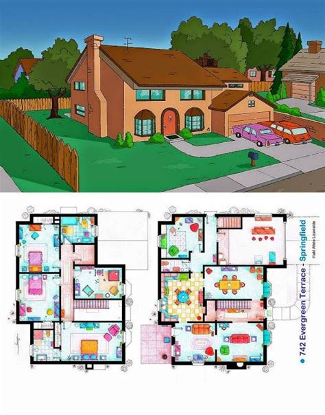 Ever Wondered About The Floor Plan Of The Simpsons House Simpsons House Minecraft Blueprints