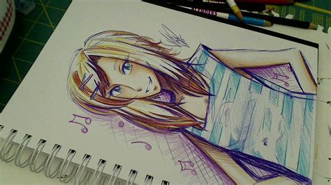 quot the crayola challenge quot ballpoint pen colored pencil