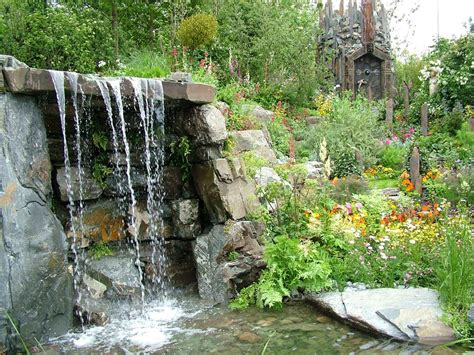 waterfall designs for backyards waterfalls striking complement to backyard layout