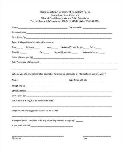 sle harassment complaint form housing discrimination complaint 28 images fair