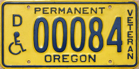 Oregon Motorcycle License Plate Sticker Placement