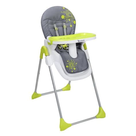 chaise évolutive badabulle badabulle chaise haute easy gris anis vert anis gris et
