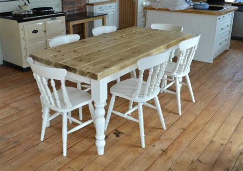 White Farmhouse Kitchen Table Rustic Farmhouse Kitchen