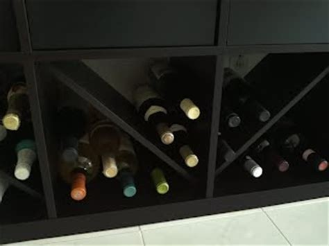 kallax wine rack expedit wine bottle rack ikea hackers ikea hackers