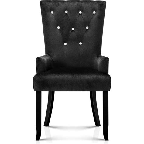 Provincial Dining Chairs Polyester Provincial Dining Chair In Black Buy
