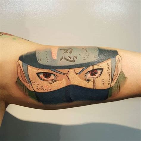 30 kakashi tattoo designs for men anime ink ideas