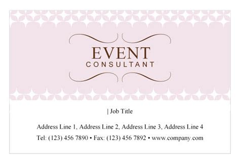 event coordinator business card templates wedding event planning print template pack from serif