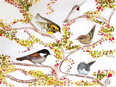 birds in my backyard birds in my backyard painting by alexandra sanders