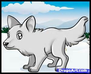 how to draw a simple wolf step by step forest animals