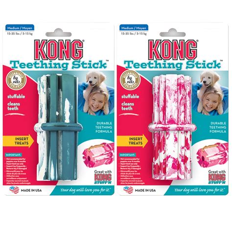 kong puppy teething stick puppy kong puppy teething stick medium 2 9 months