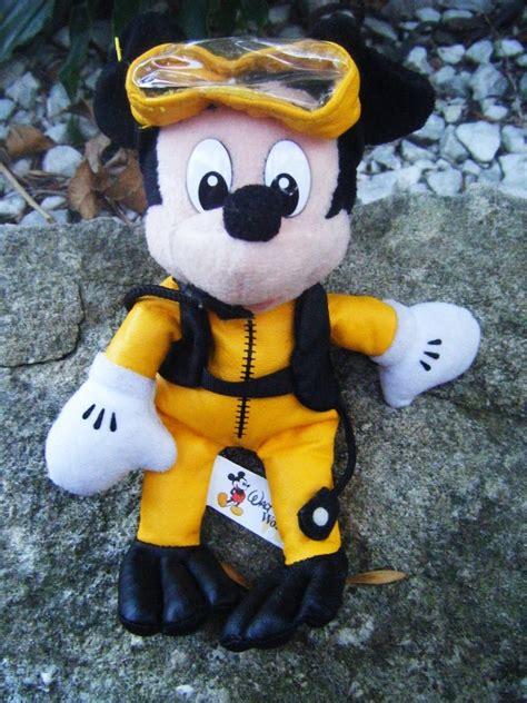 Mickey Mouse Uk 20 15 10 walt disney plush 8 quot mickey mouse scuba diver euc disney