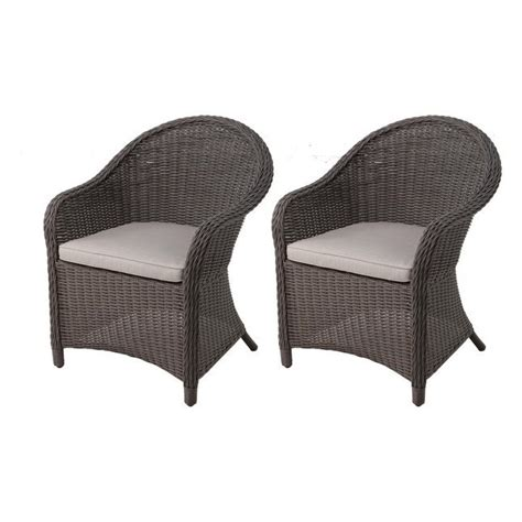 lowes wicker chairs allen roth kingsbrae wicker dining chair set of 2 lowe s canada