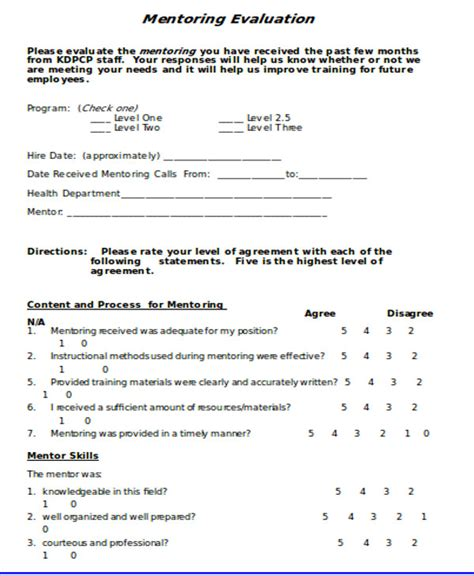 orientation evaluation form best resumes
