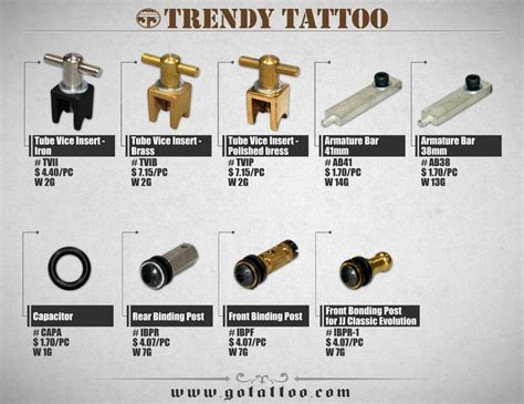 tattoo machine parts suppliers 17 best images about trendy tattoo supply catalog on