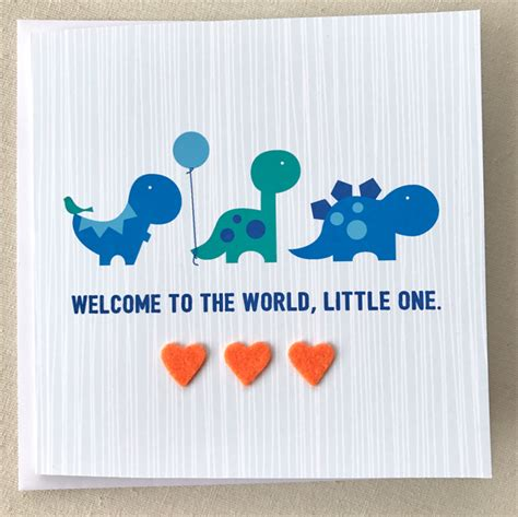 new baby card dinosaur card newborn baby boy card