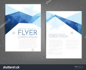 blue polygonal line brochure template flyer background