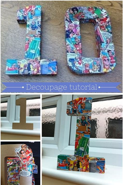 Decoupage Numbers - bunting corner sport decoupage numbers