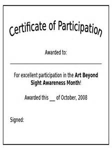 Participation Certificate Template by Participation Certificate 6 Free Templates In Pdf Word