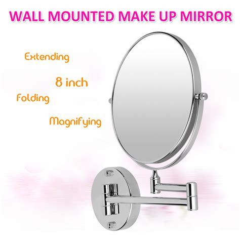 magnifying bathroom mirrors wall mounted chrome wall double side extending chrome wall mounted 10x magnifying