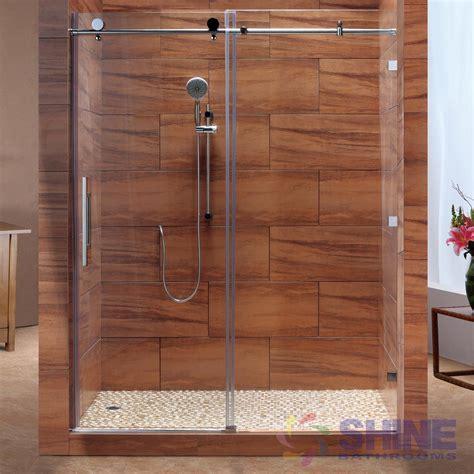 glass shower sliding doors frameless sd frameless sliding shower door shine bathrooms