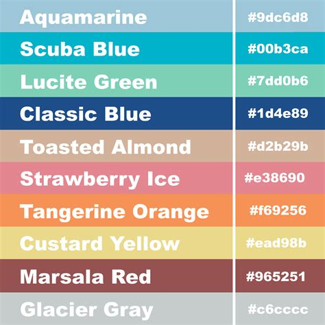 girly business cards hex code pantone color palette for 2015
