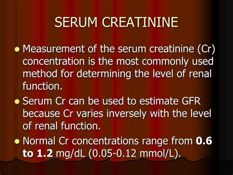 Serum Cr ppt creatine and creatinine powerpoint presentation id