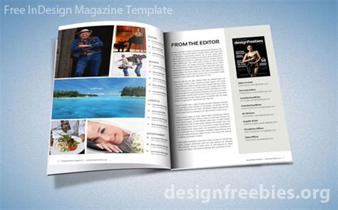 Free Exclusive Indesign Magazine Template V 2 Designfreebies Magazine Template Indesign Free