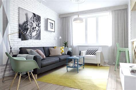 small russian studio apartment  square feet  pastel