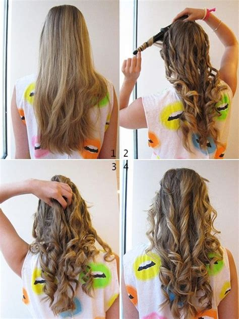 cute ways to curl ur hair with a wand how to curl your hair easy how to instructions
