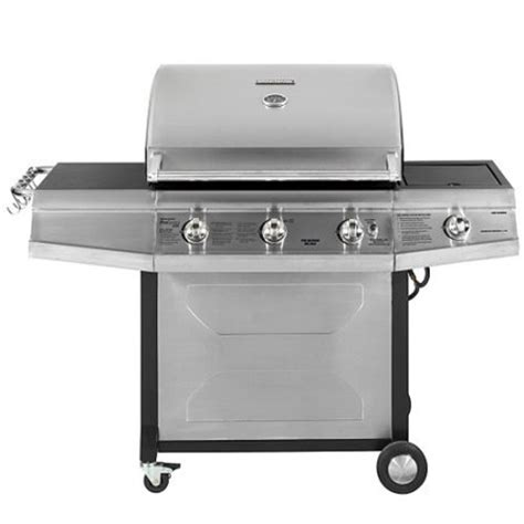 brinkmann proseries 8300 58 500 btu 4 burner gas grill with side burner walmart com