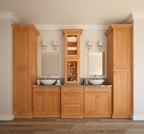 ready made vanity cabinets shaker honey pre assembled bathroom vanities the rta store