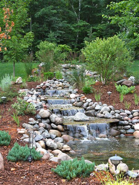 backyard stream design ideas remodel pictures houzz