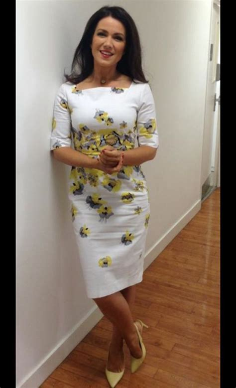 Dress Elsa White Gmb susanna stuns in yellow and white dress after yesterday s fashion fail on gmb
