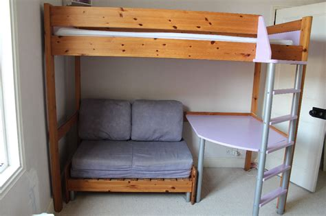 high rise bed with desk single high bunk bed with futon and buy sale and trade ads